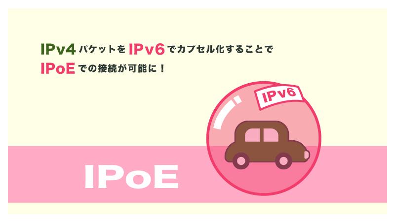「IPv4 over IPv6」を使えばIPv4のサイトにIPv6 IPoEのようにアクセスできる